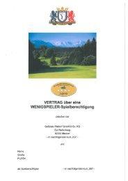 Wenigspieler-Vertrag inkl. SONDERZAHLUNG ... - Golfplatz Iffeldorf