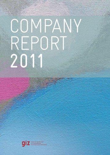 G I Z Company report 2011