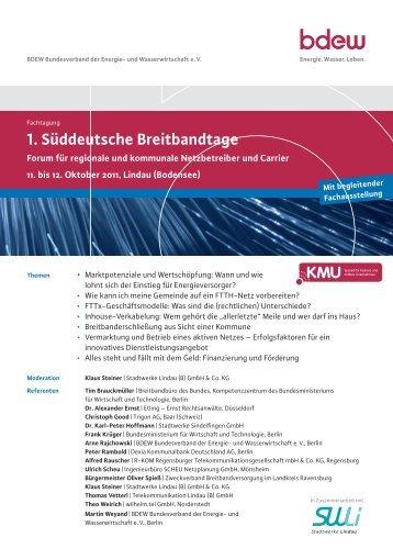 1. Süddeutsche Breitbandtage - Der Gemeinderat