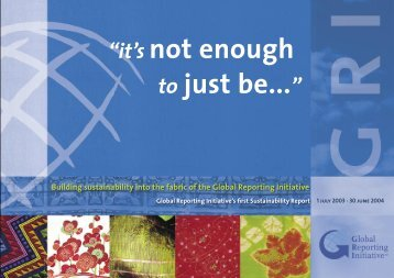2003-2004 Sustainability report - Global Reporting Initiative