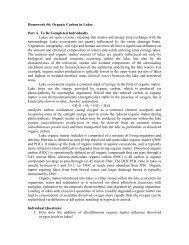 Homework #6: Organic Carbon in Lakes