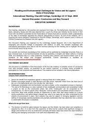 Draft Conclusions: Cambridge Executive Summary (October 2003)