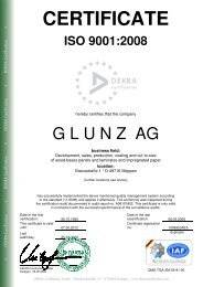 CERTIFICATE - Die Glunz AG
