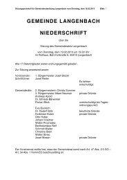 Gemeinderatssitzung vom 19.02.2013 - Langenbach