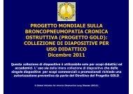 PROGETTO MONDIALE SULLA BRONCOPNEUMOPATIA ... - GOLD