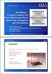 NeuroBayes – A modern analysis tool from High Energy Physics ...