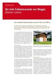 Die tiefe Erdwärmesonde von Weggis (Kanton Luzern) - Geothermie