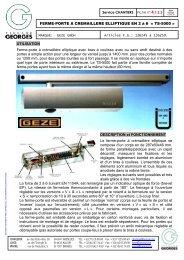 FERME-PORTE A CREMAILLERE ELLIPTIQUE EN 2 à 6 « TS-5000 ...