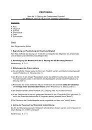 OB Do 3. Sitzung 26.10.2011 - Gemeinde Dornburg