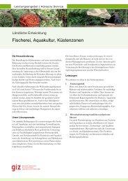 Fischerei, Aquakultur, Küstenzonen - GIZ