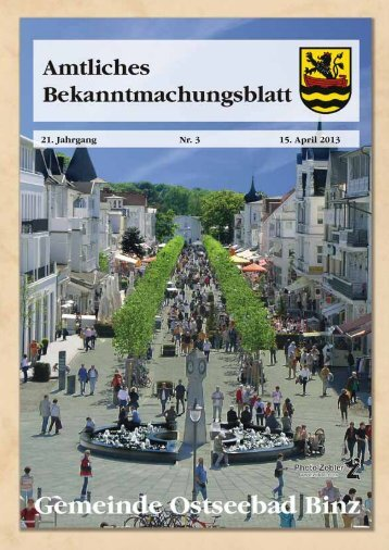 Nr. 3 vom 15. April 2013 - Gemeinde Binz