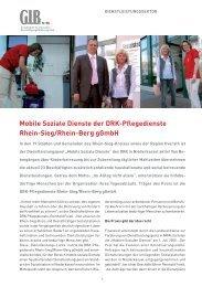 Mobile Soziale Dienste der DRK-Pflegedienste Rhein ... - GIB NRW