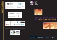 summit partners GRI Summit 2003 - Global Real Estate Institute