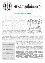 Solidarité : idéal et réalités - Solidarité Mondiale contre la Faim
