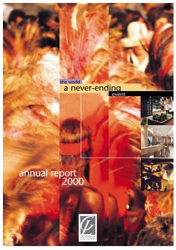 annual report 2000 - GL events