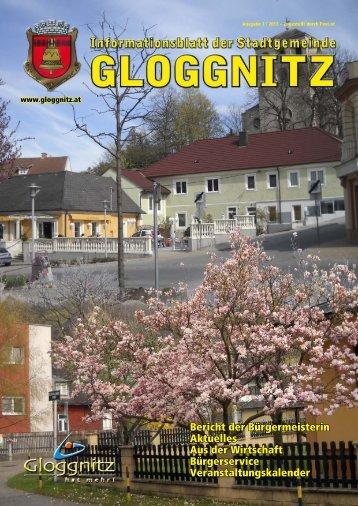 Informationsblatt 1/2013 - Stadtgemeinde Gloggnitz