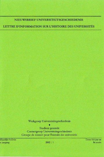 Jaargang / Année 8, 2002, nr. 1 - Gewina