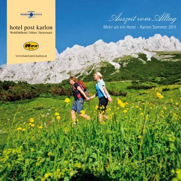 Sommerprospekt 2011 - gesa.mt marketing im tourismus