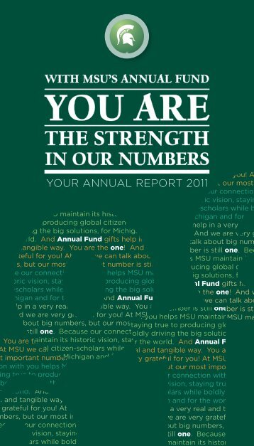 YOU ARE - Giving to MSU