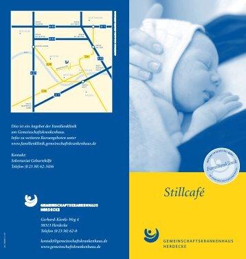 Flyer Stillcafe - Gemeinschaftskrankenhaus Herdecke