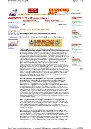BURNING OUT - Motorrad-News - der Biker Union eV