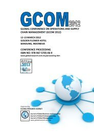 global conference on operations and supply chain management