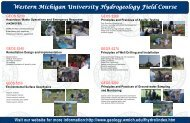 WMU HFC Poster - Department of Geosciences - Western Michigan ...