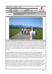Name der Tour: Plansee - Runde Datum: 16.09.2012 Länge/km: 113 ...