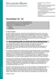 Newsletter Nr. 32 - Gesundheitsbeirat-muenchen.de