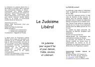 01 Le Judaïsme Libéral - Communauté Israélite Libérale de Genève