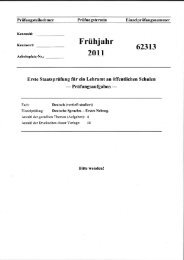 Staatsexamensklausur, 1. Nebengebiet, Frühjahr 2011