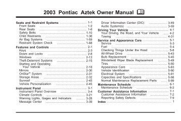 2003 pontiac aztek owners manual good owner guide website u2022 rh hash ocean co 2004 pontiac aztek owner's manual 2004 Pontiac Aztek Problems