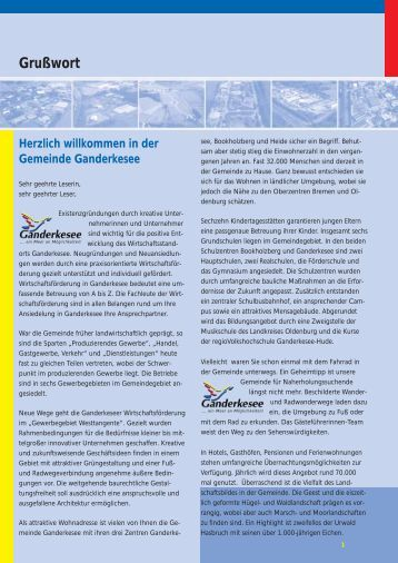 Grußwort - Gemeinde Ganderkesee