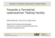 Towards a Terrestrial Laserscanner Testing Facility - Geomatik ...