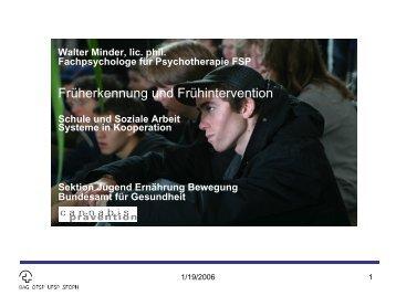 Walter Minder - Gesunde Schulen