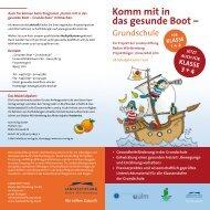 Komm mit in das gesunde Boot – - Gesunde Kinder - Kommt mit in ...