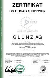 ZERTIFIKAT - Die Glunz AG