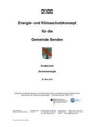 Sonnenenergie - Gemeinde Senden