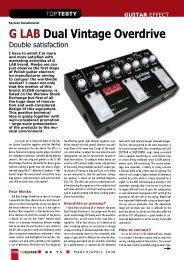 G LAB Dual Vintage Overdrive Double satisfaction