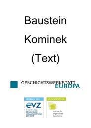 Baustein Kominek (1) herunterladen - Geschichtswerkstatt Europa