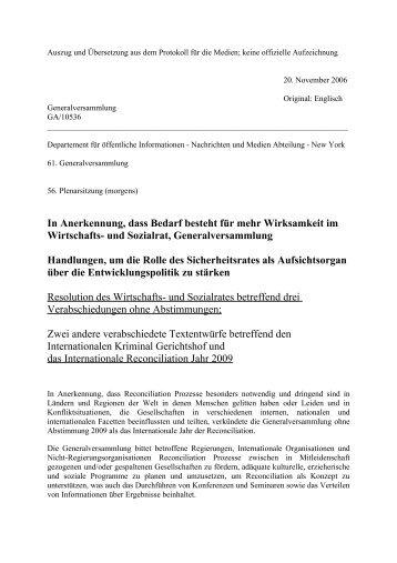 Deutsche Übersetzung des Auszugs - Global Balance