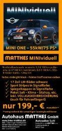 Minlvidhl%|| - BMW & MINI Autohaus Matthes