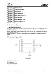 1 Veiligheidsinstructies 2 Constructie apparaat - Gira