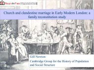 Church and clandestine marriage in Early Modern London