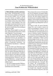 Dr. Wolf Pohl Zum Problem der Willensfreiheit
