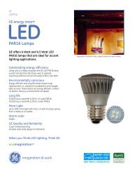 PAR16 Lamps - GE Lighting Asia Pacific