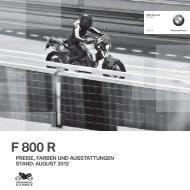 Preisliste F 800 R - Motorrad Berlin