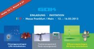 EINLADUNG · INVITATION · Messe Frankfurt / Main · 12 ... - GOK