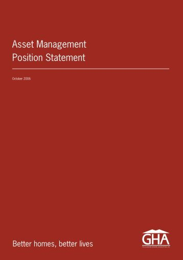 Asset Management Position Statement - Glasgow Housing Association