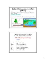 Water Balance Equation